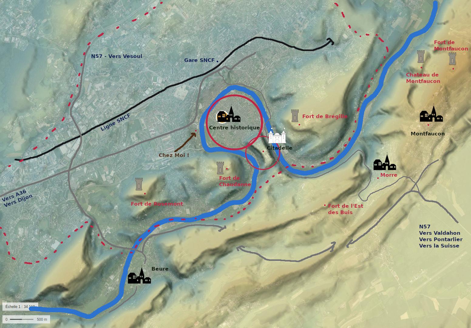 Petit plan de Besançon